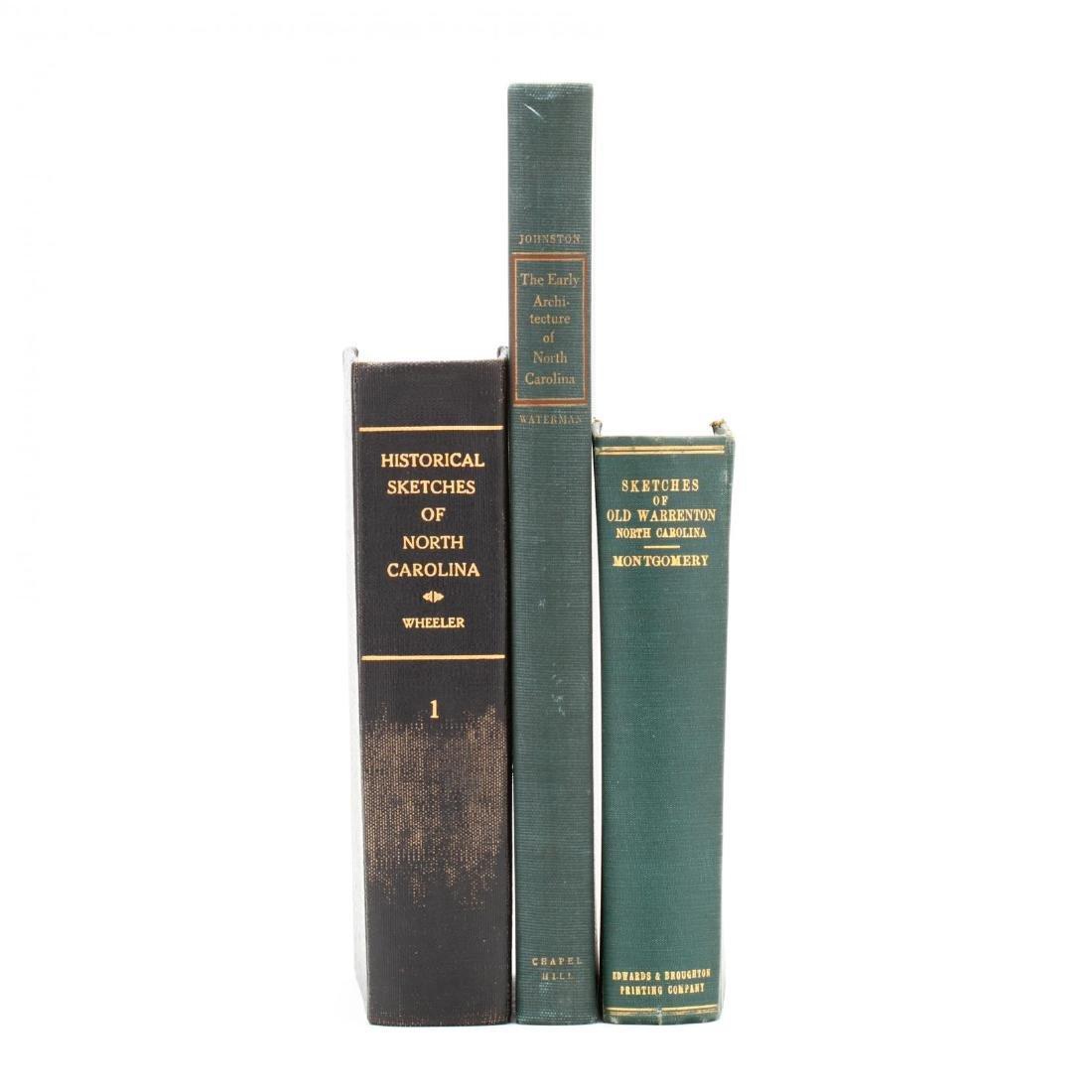 Three Books Related to the History of North Carolina