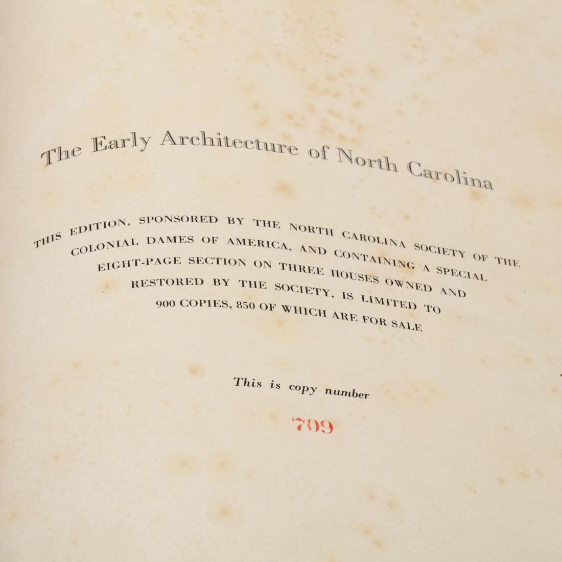 Three Books Related to the History of North Carolina - 4