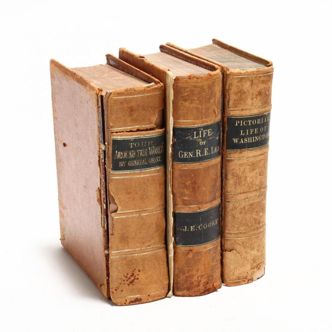 Three Early Leather-Bound American Biographies