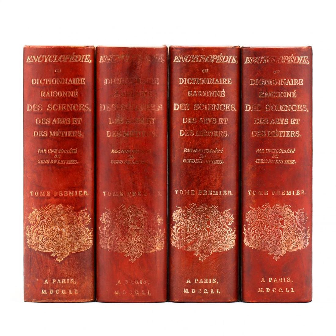 Four Large Leather Bound Faux Books