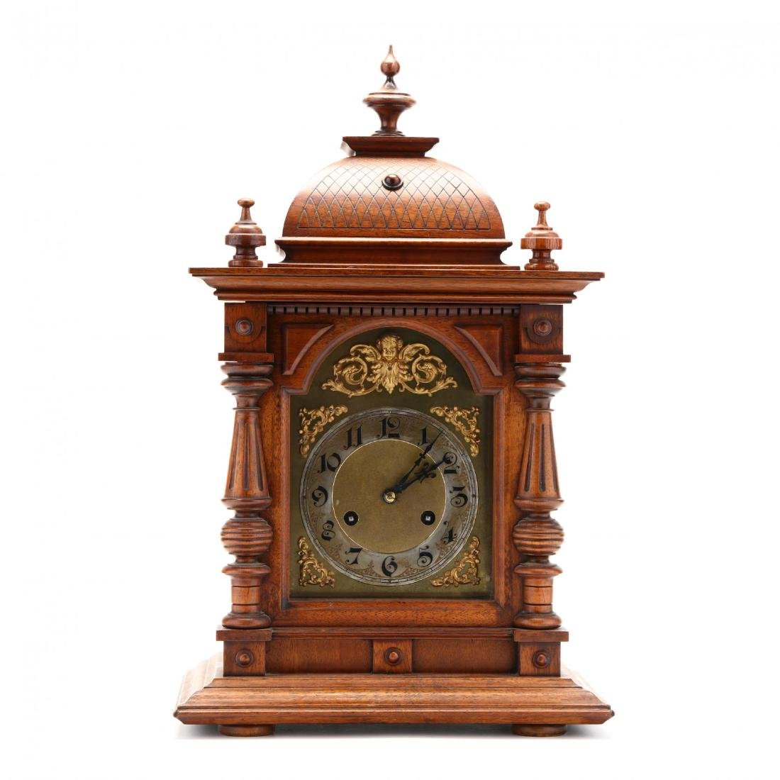 Junghans, Carved Walnut Bracket Clock