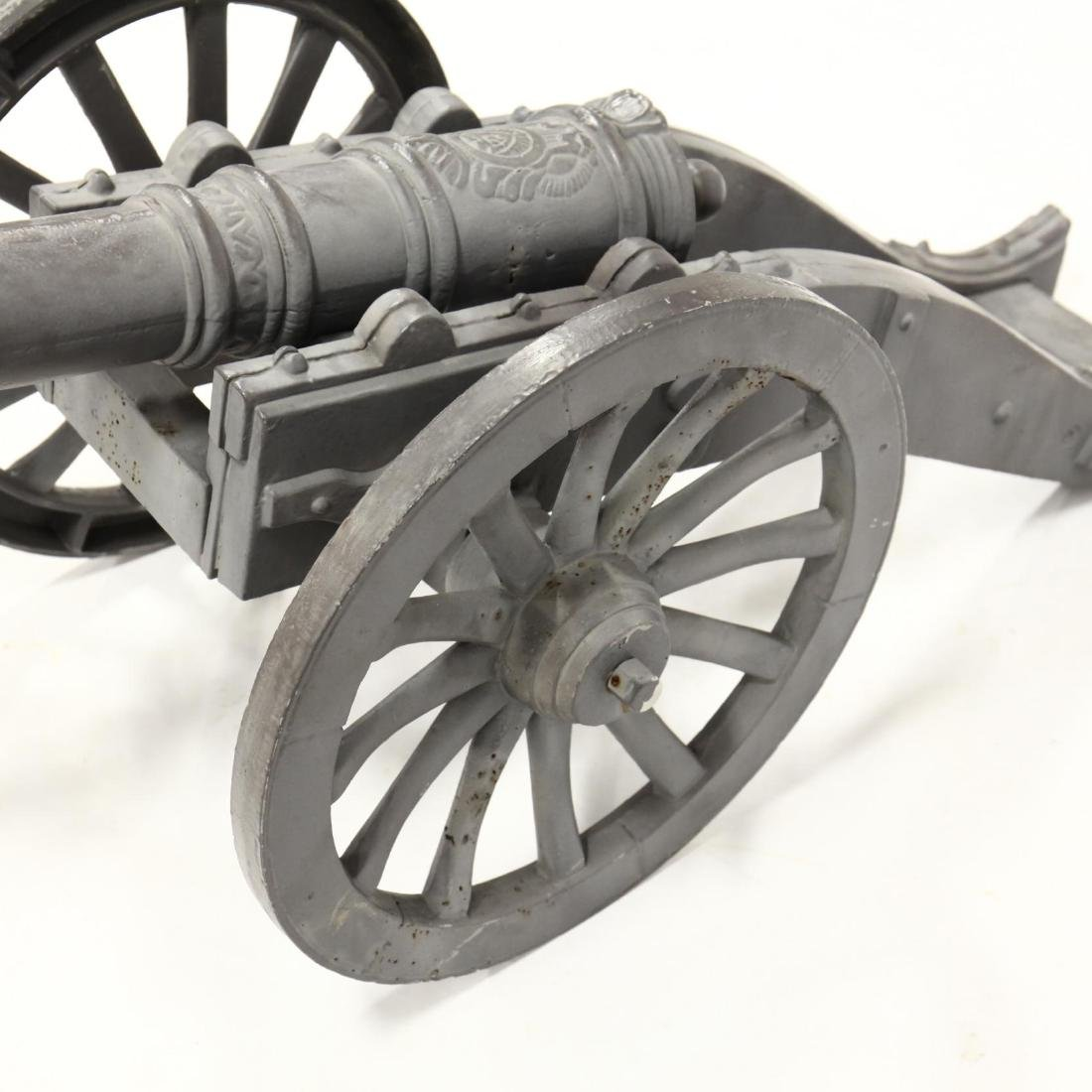 Large Cast Metal Cannon - 4