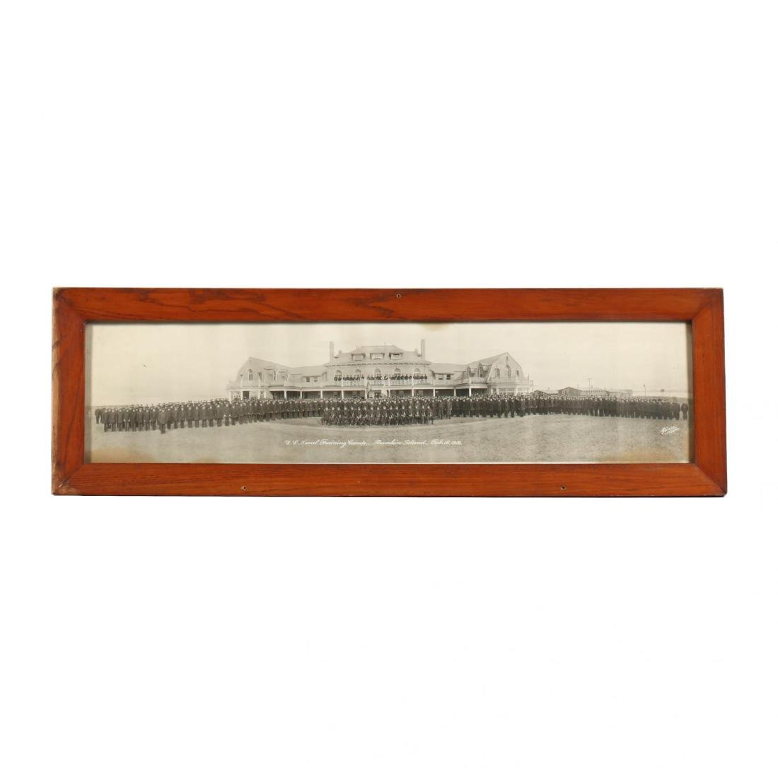 Vintage Panoramic Photograph of the US Naval Training