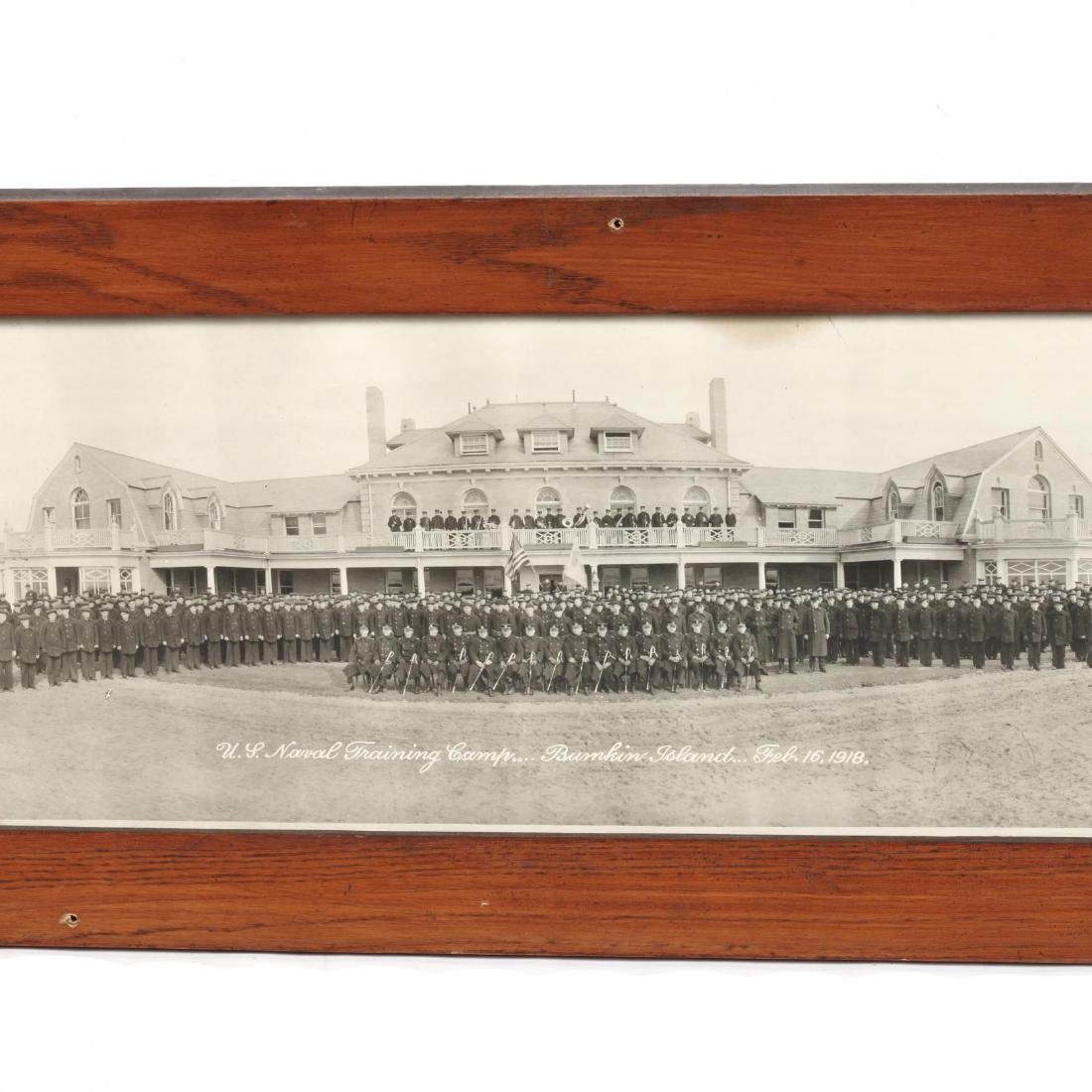 Vintage Panoramic Photograph of the US Naval Training - 3