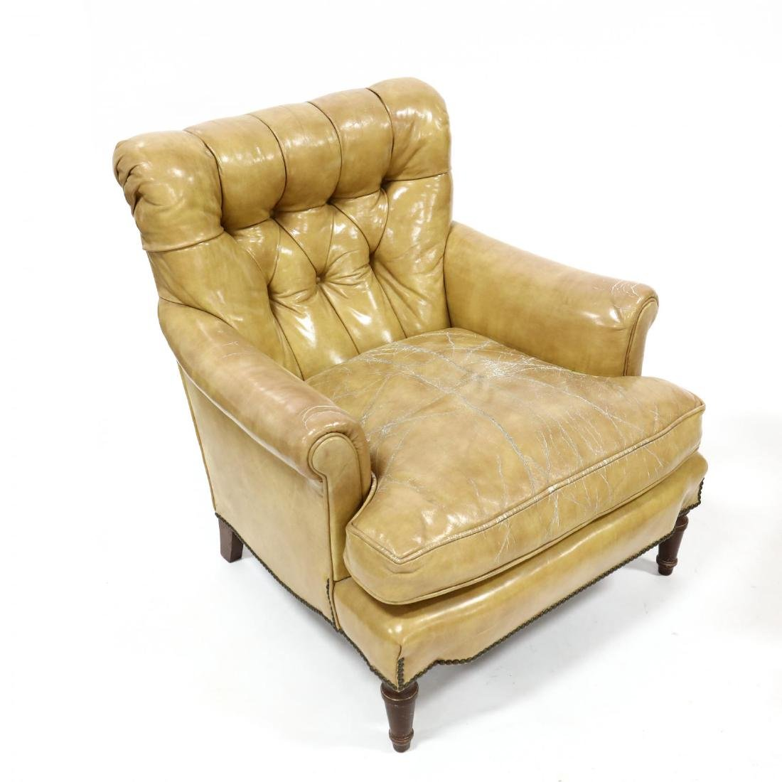 Pair of Vintage Leather Upholstered Club Chairs - 3