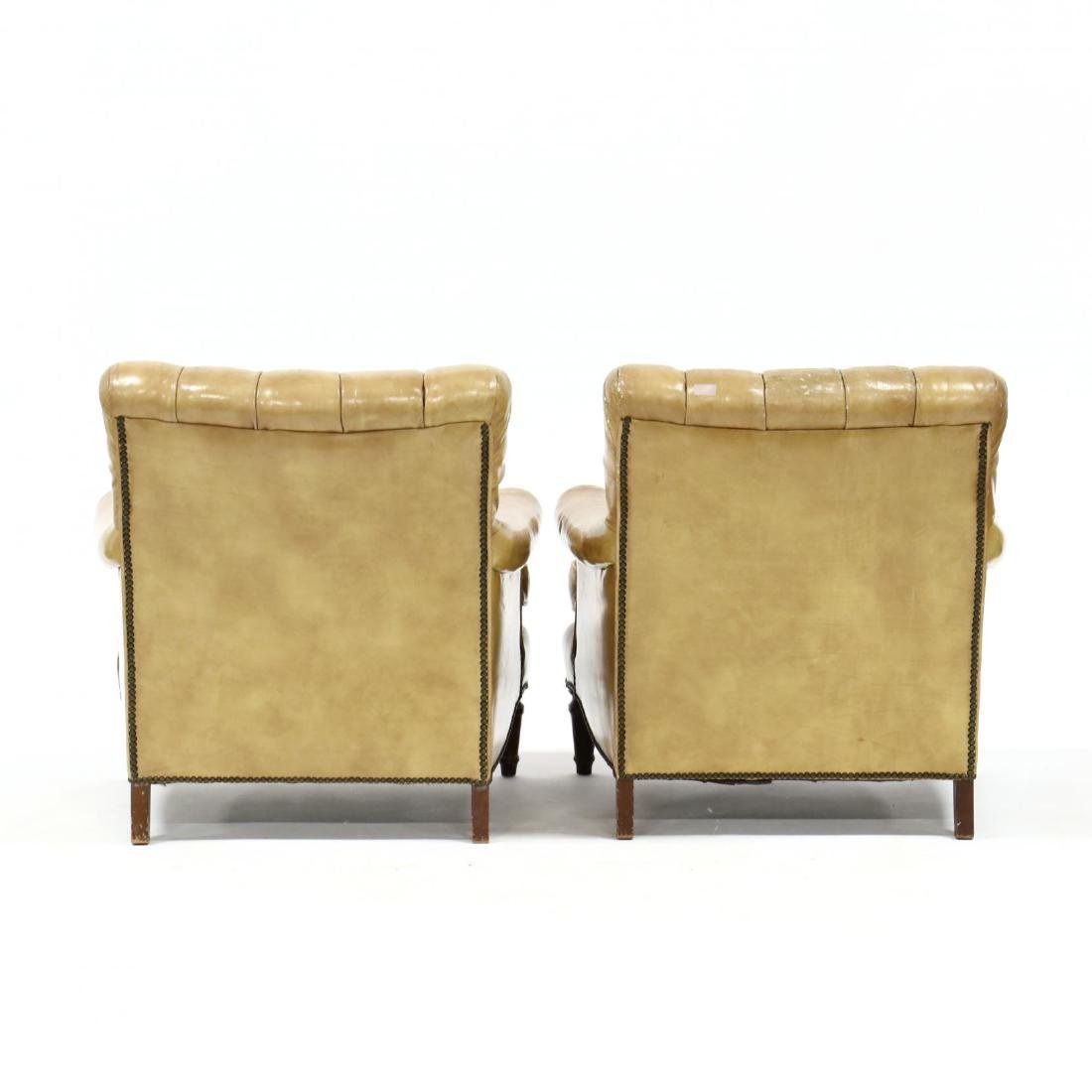 Pair of Vintage Leather Upholstered Club Chairs - 4