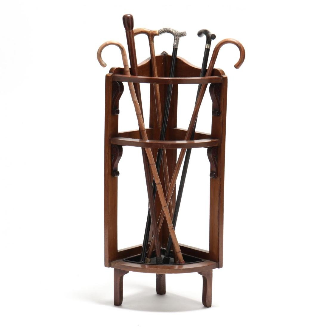 Edwardian Cane Stand With Canes