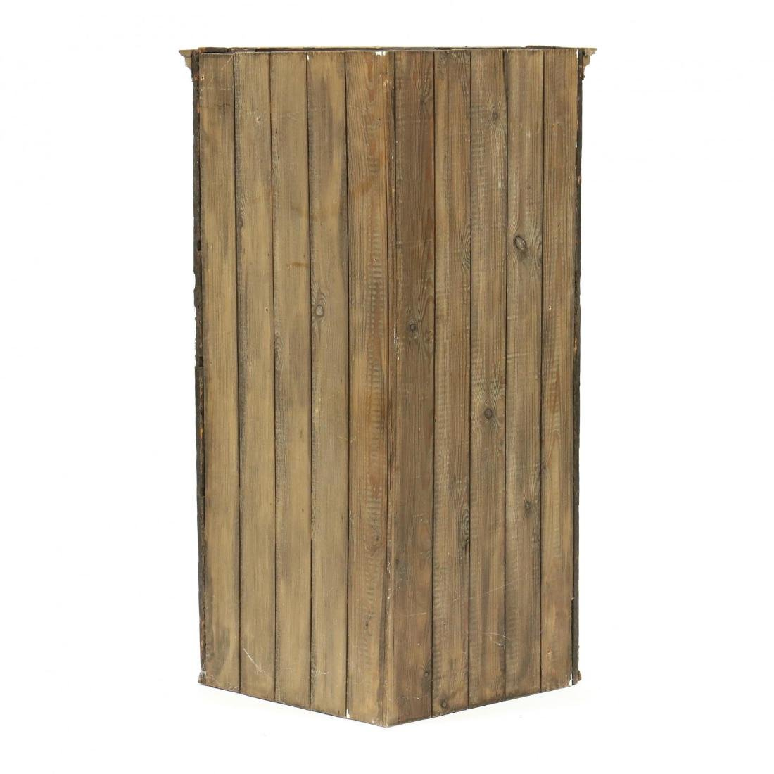 Edwardian Oak Hanging Corner Cabinet - 2