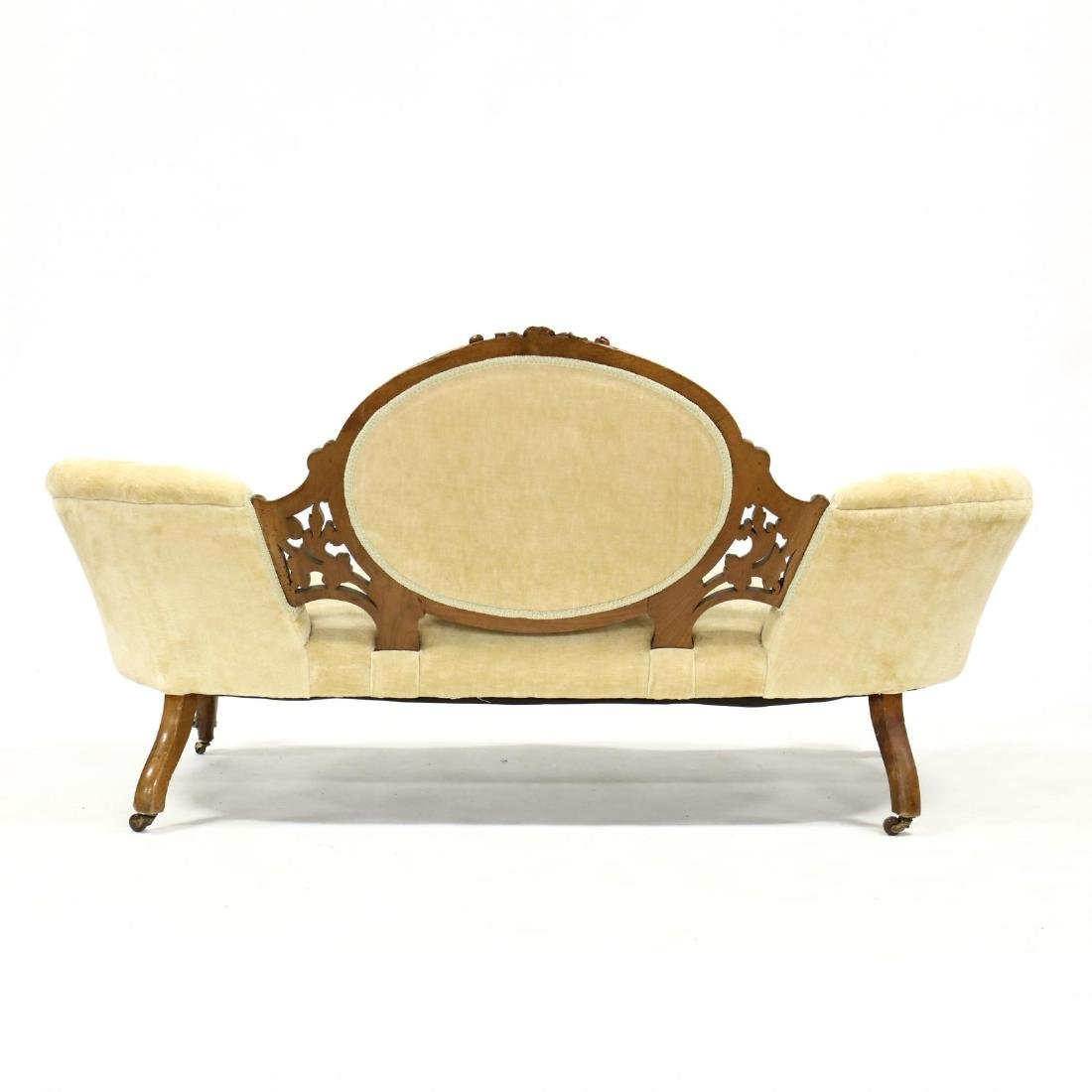 Rococo Revival Victorian Carved Walnut Sofa - 4