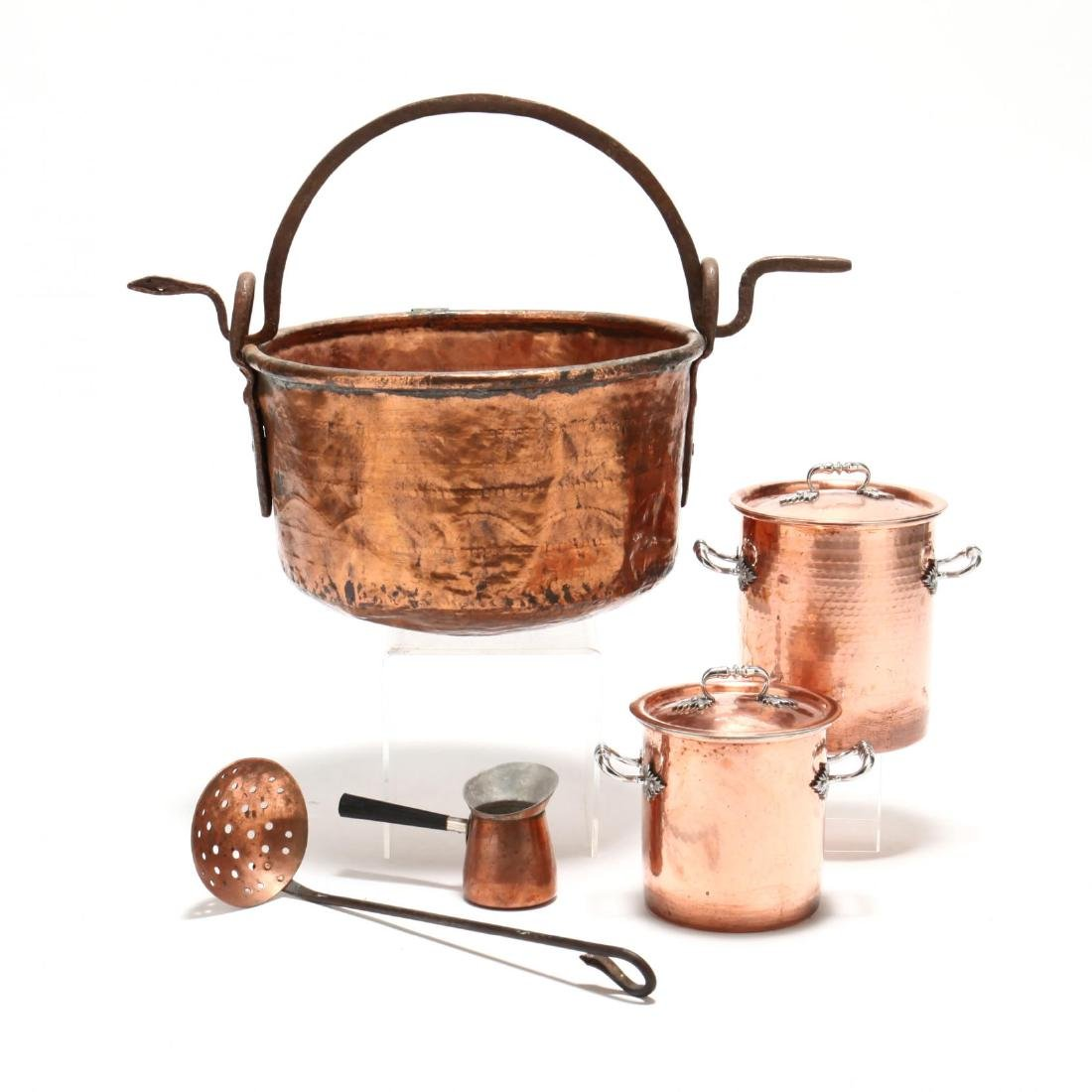 Five Pieces of Copper Cookware