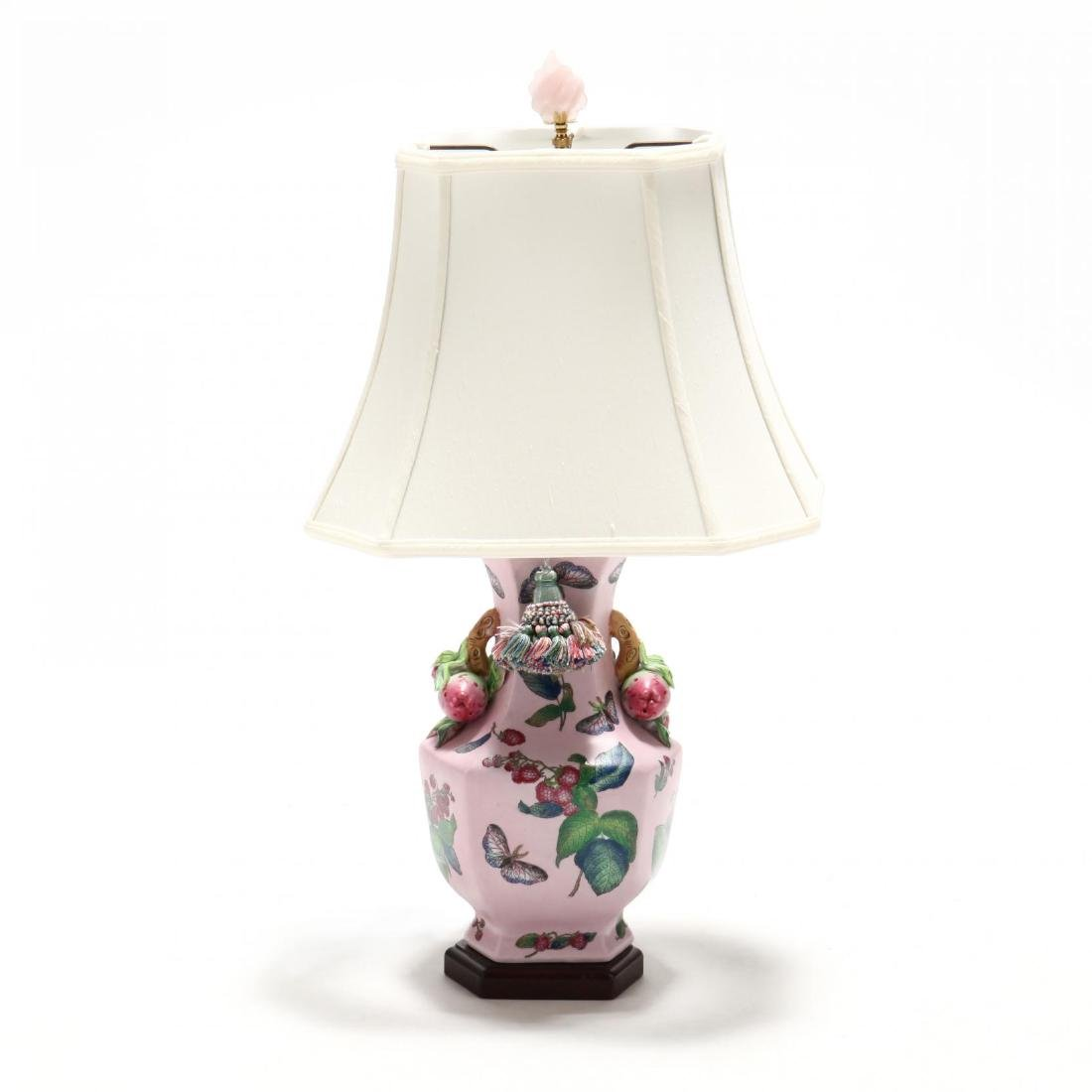 Chinese Export Style Porcelain Table Lamp