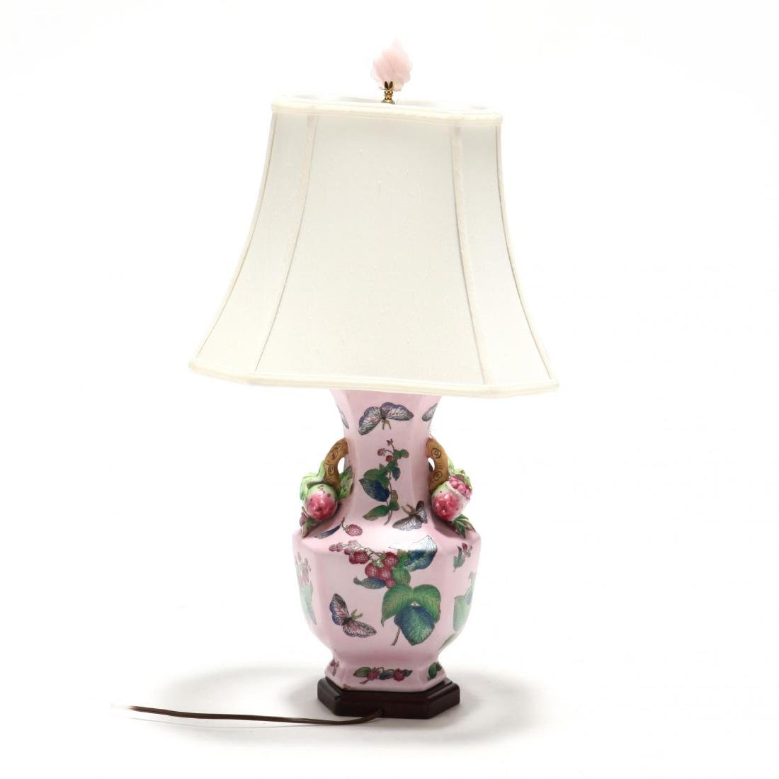 Chinese Export Style Porcelain Table Lamp - 2