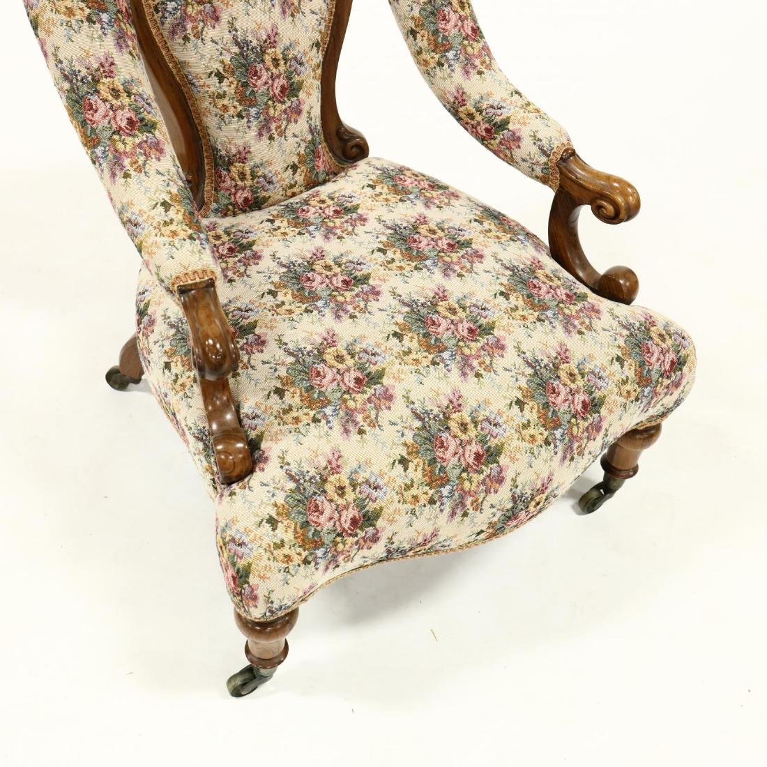 Victorian Rosewood Parlour Chair - 2