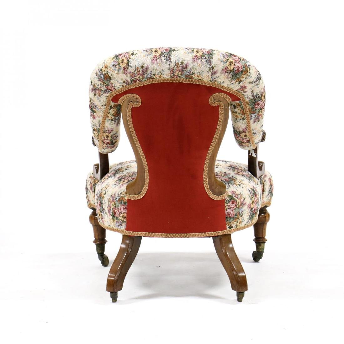 Victorian Rosewood Parlour Chair - 3