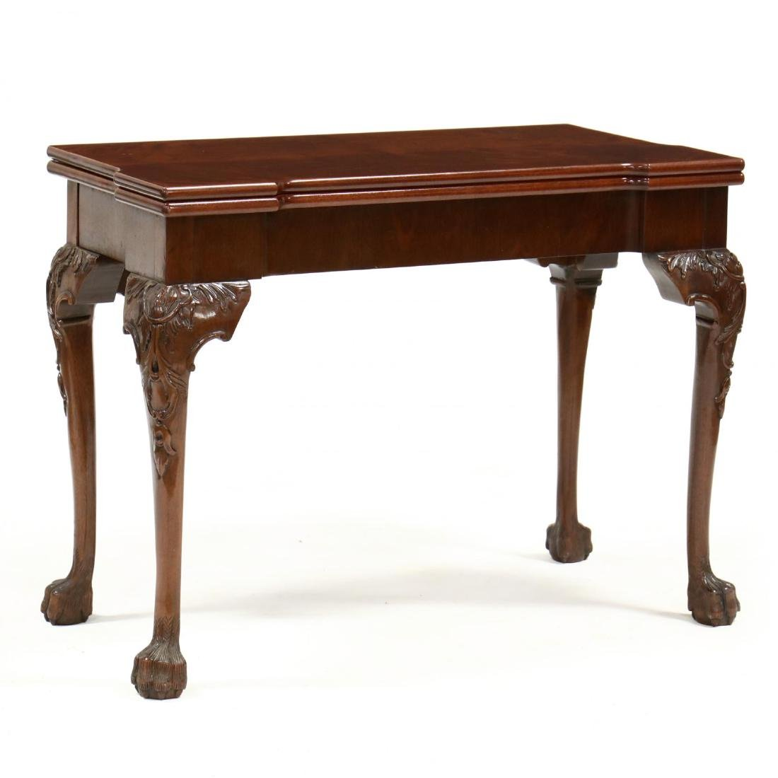 Chippendale Style Mahogany Game Table