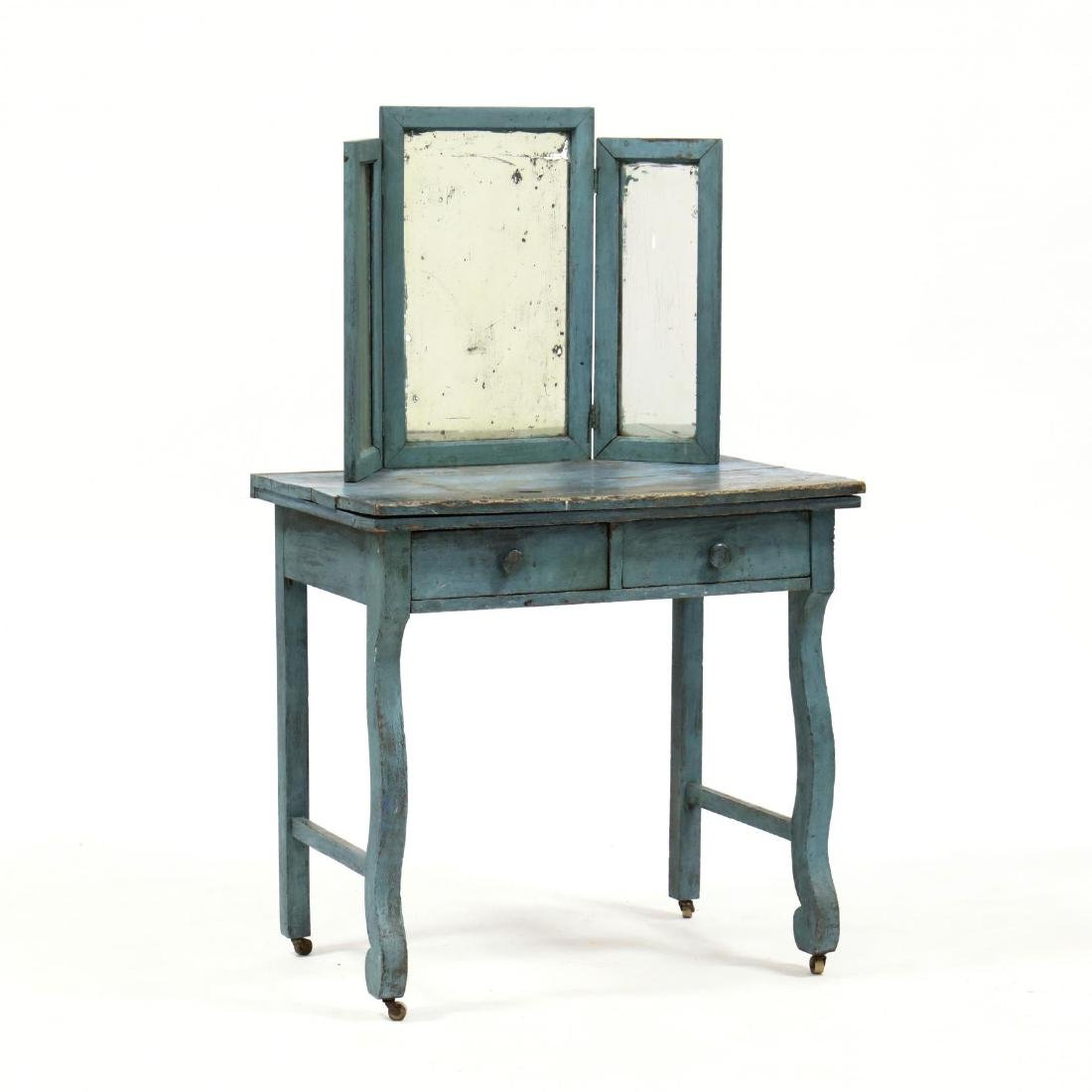 Classical Style Distressed Painted Vanity