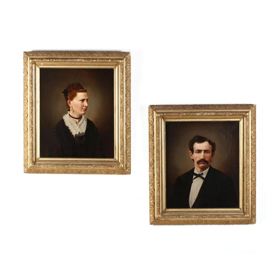 Pair of 19th-Century American School Portraits
