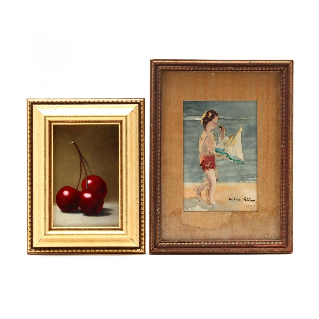 Two Contemporary Miniature Paintings - Russell W.