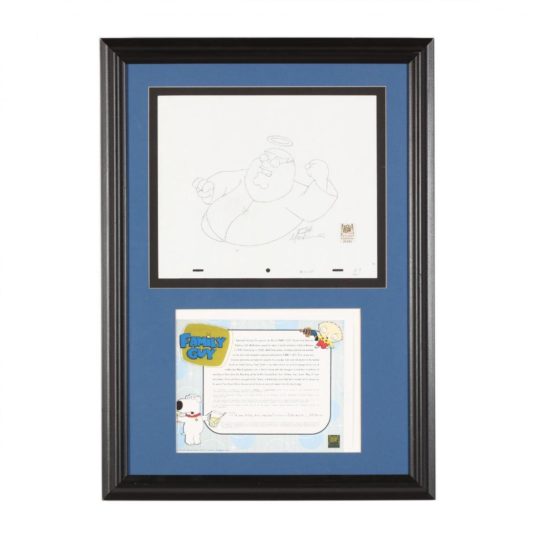 Original Framed  Family Guy  Production Drawing