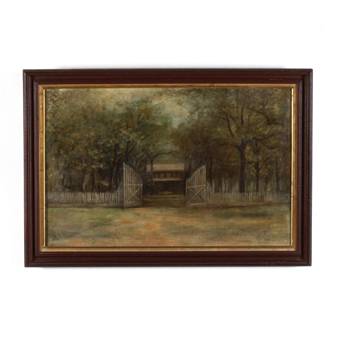 An Antique American Architectural Painting