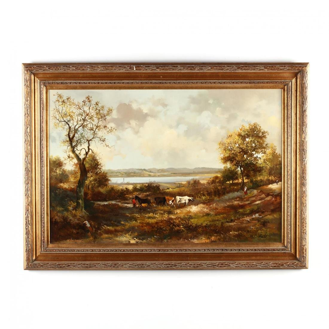 Hudson River Valley Style Landscape with Cattle