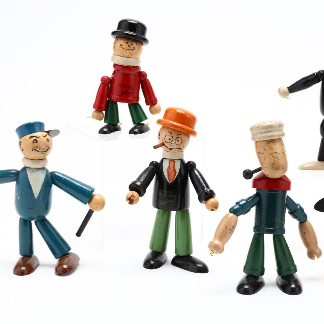 A Group of Articulated Wooden Toys - 2