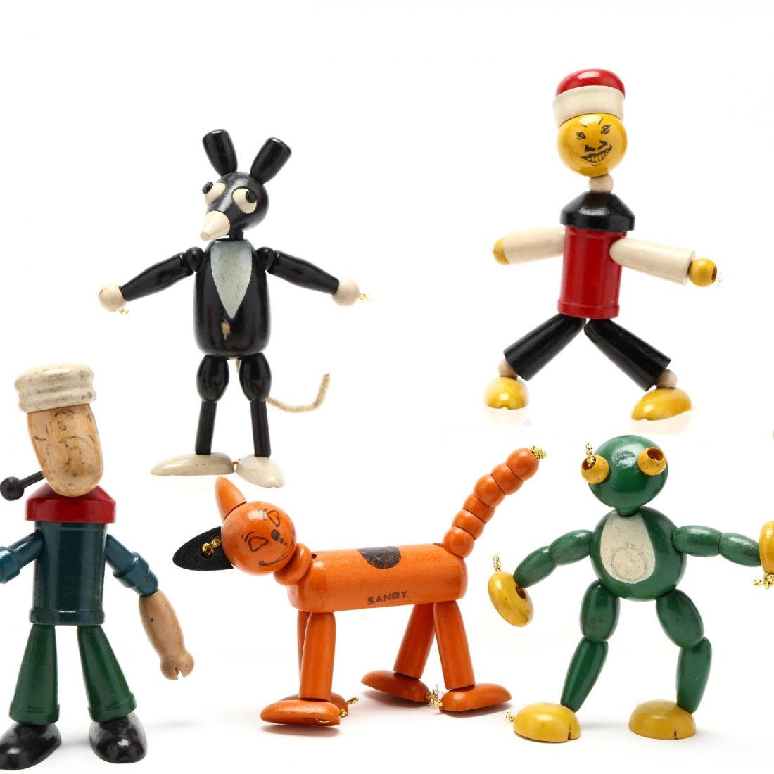 A Group of Articulated Wooden Toys - 3
