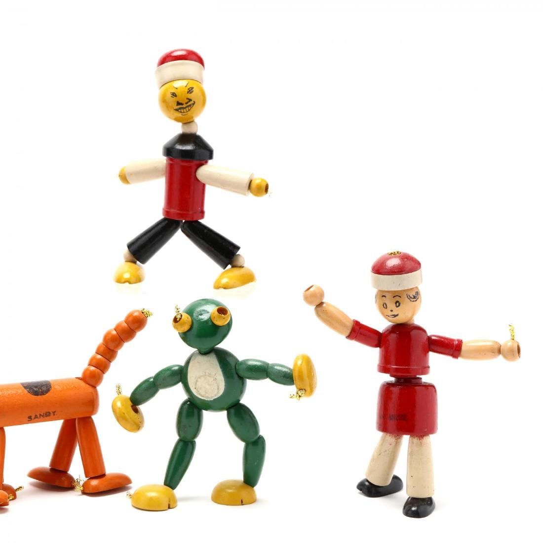 A Group of Articulated Wooden Toys - 4