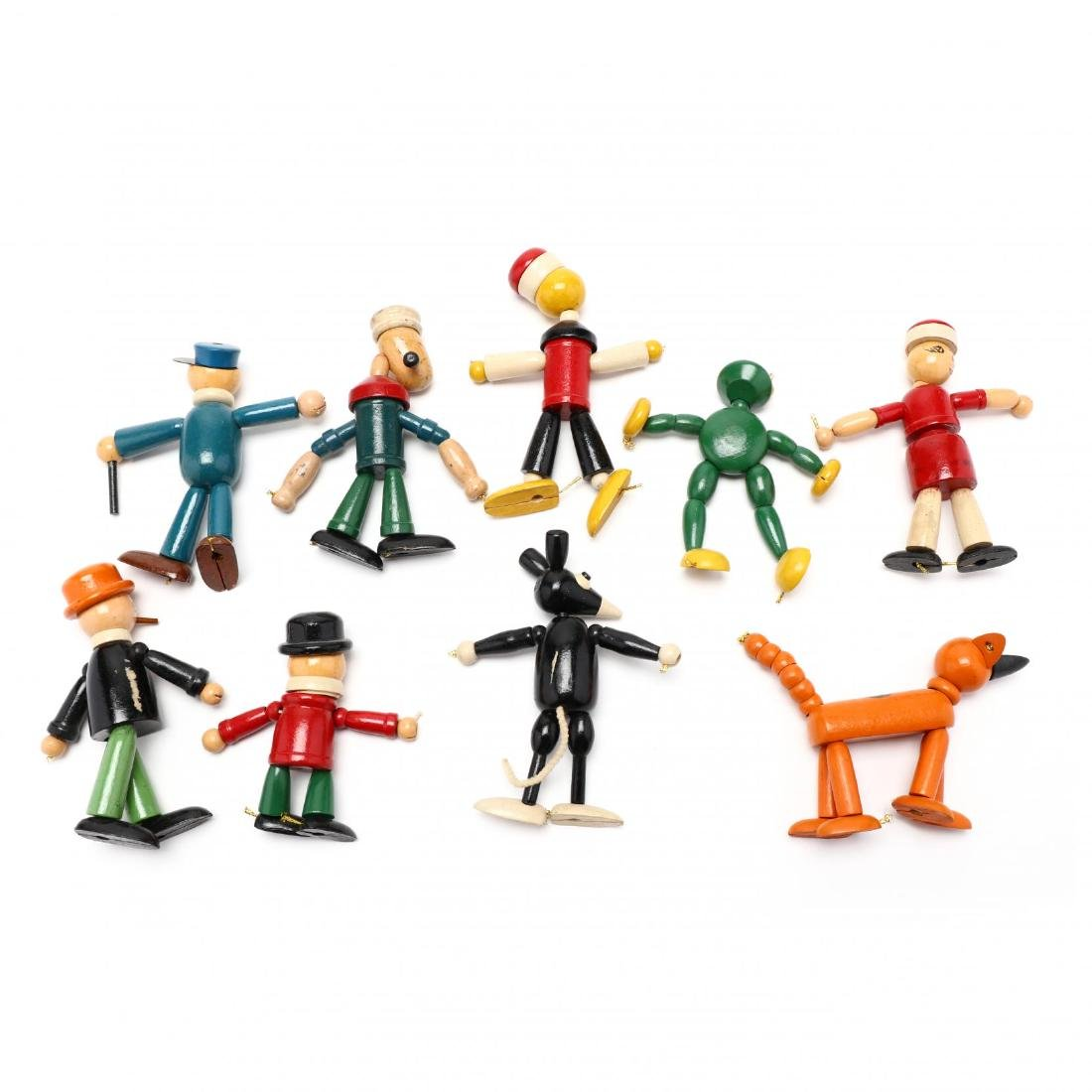 A Group of Articulated Wooden Toys - 9
