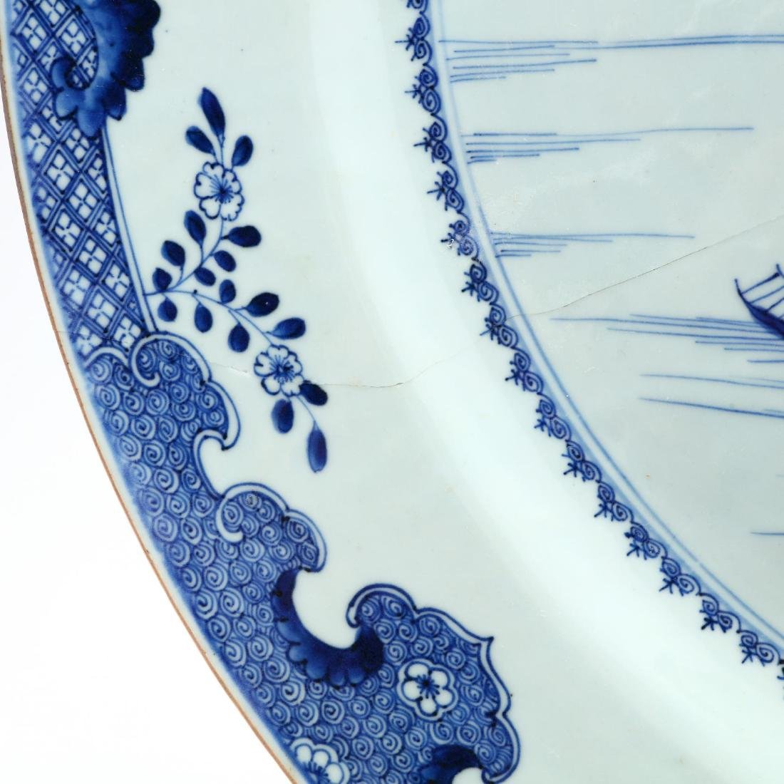 A Large Chinese Charger and Decorative Porcelain Items - 2