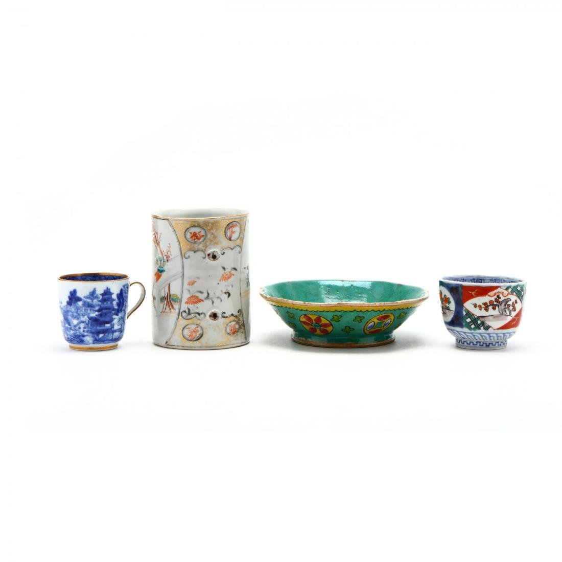 A Large Chinese Charger and Decorative Porcelain Items - 7