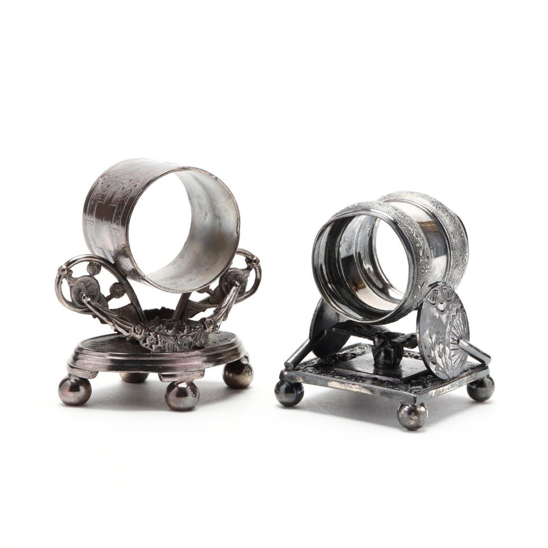 Two Late Victorian Silver Plate Napkin Rings