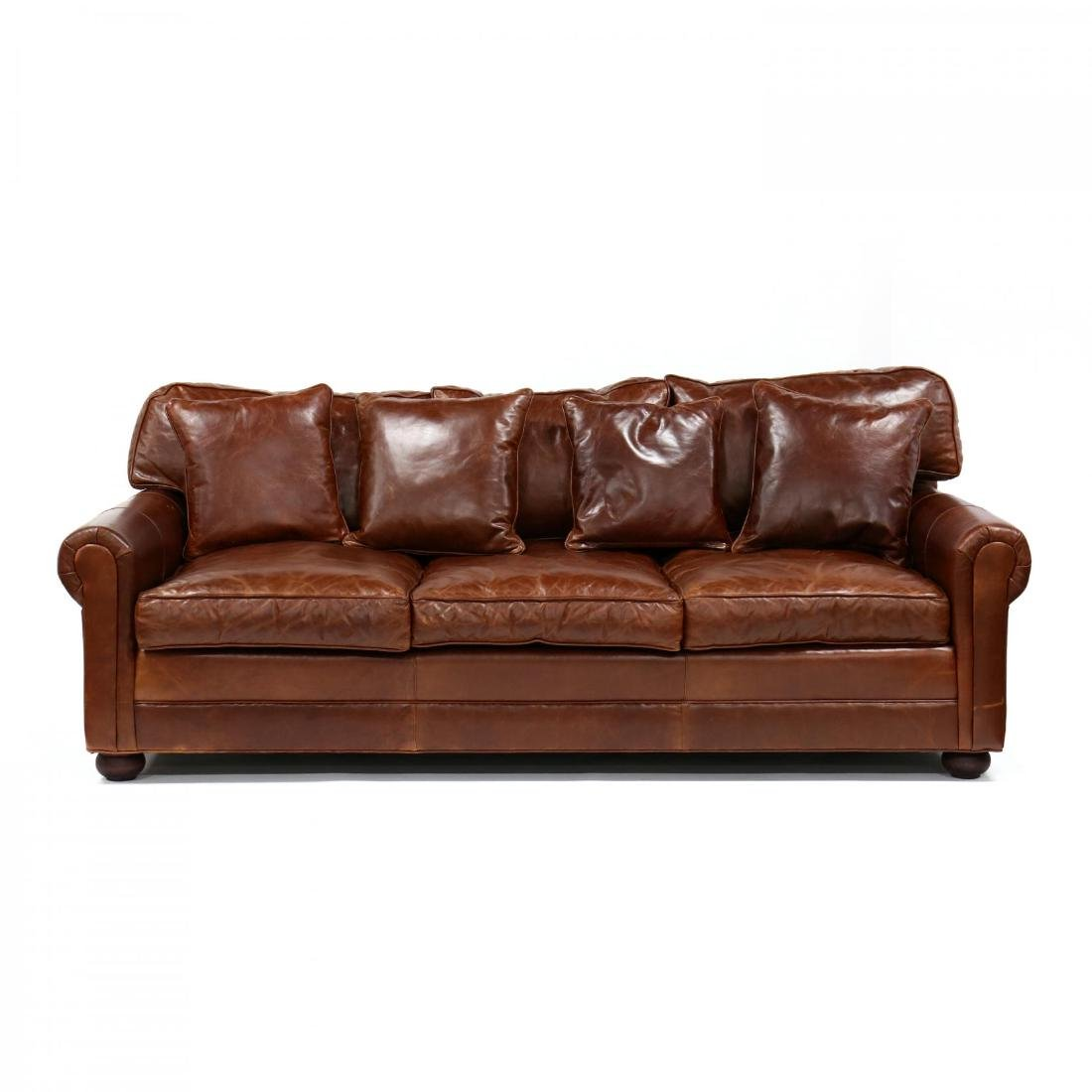 Old Hickory Tannery, Leather Sofa