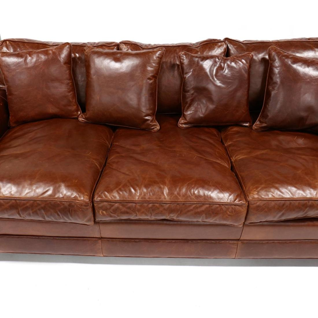 Old Hickory Tannery, Leather Sofa - 2
