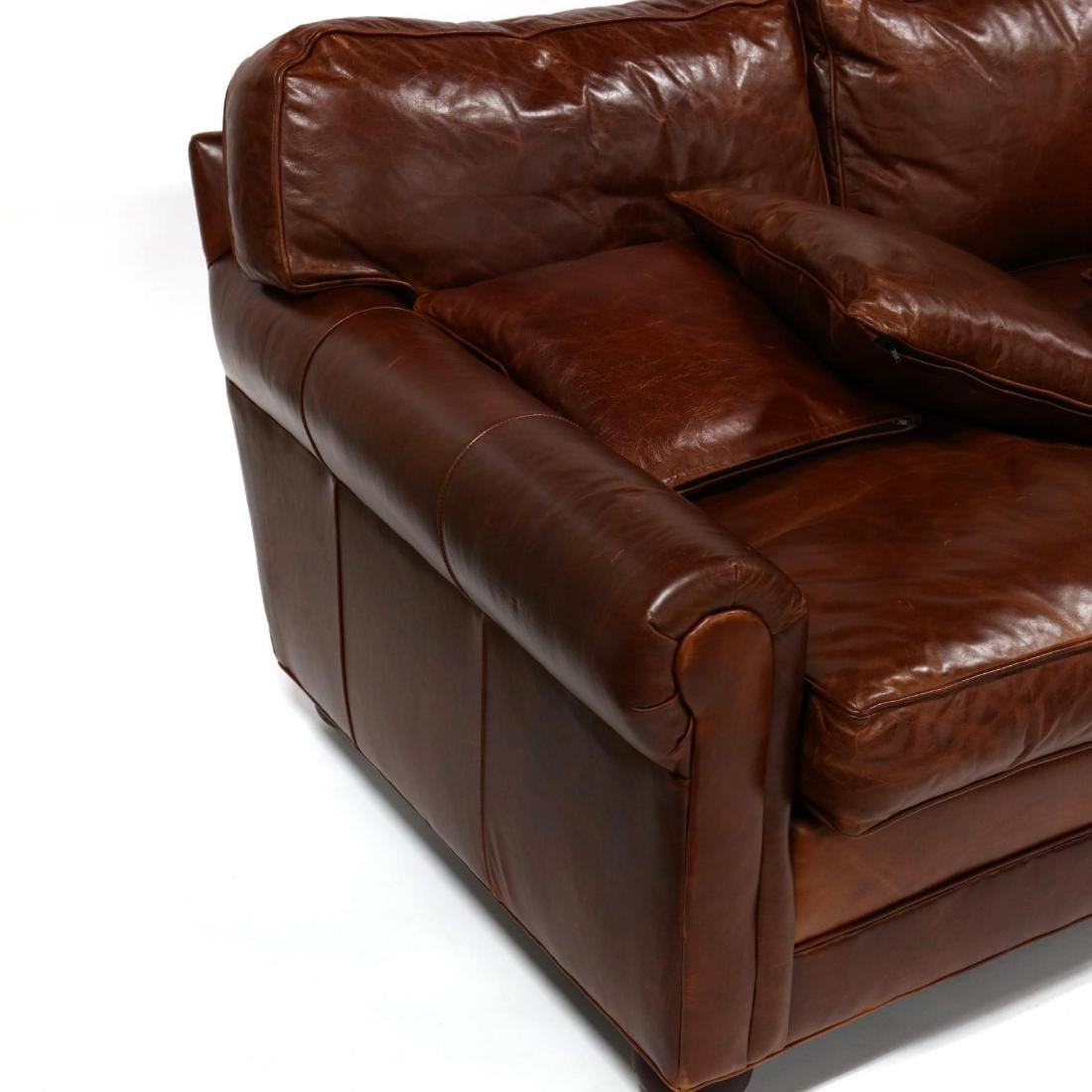 Old Hickory Tannery, Leather Sofa - 4