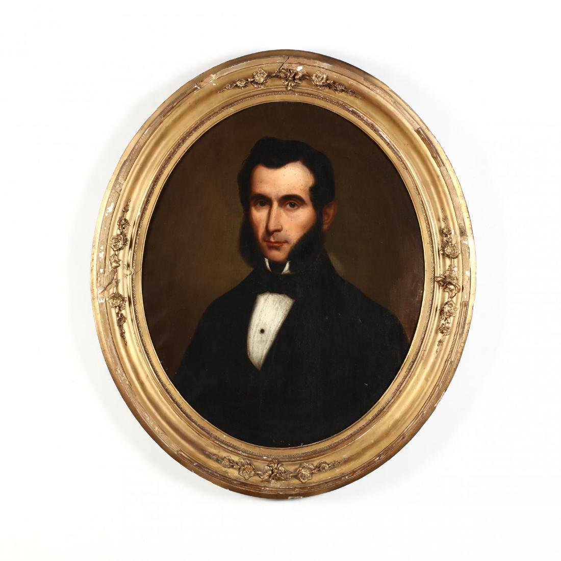 An Antique American School Portrait of a Man
