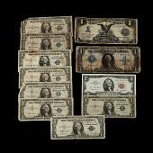 Eleven Pieces of Obsolete Currency.