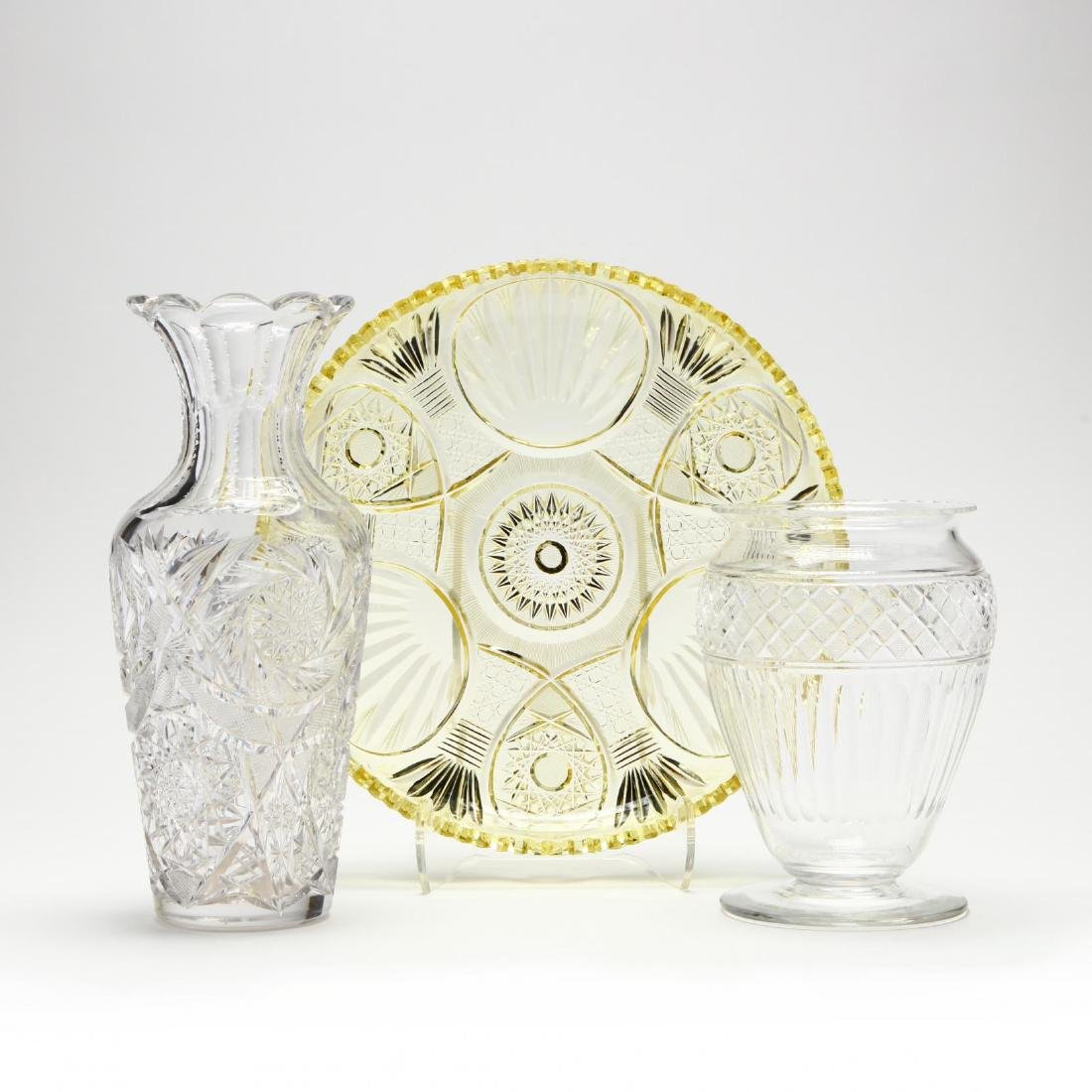 Three Piece of Fine American Cut Glass