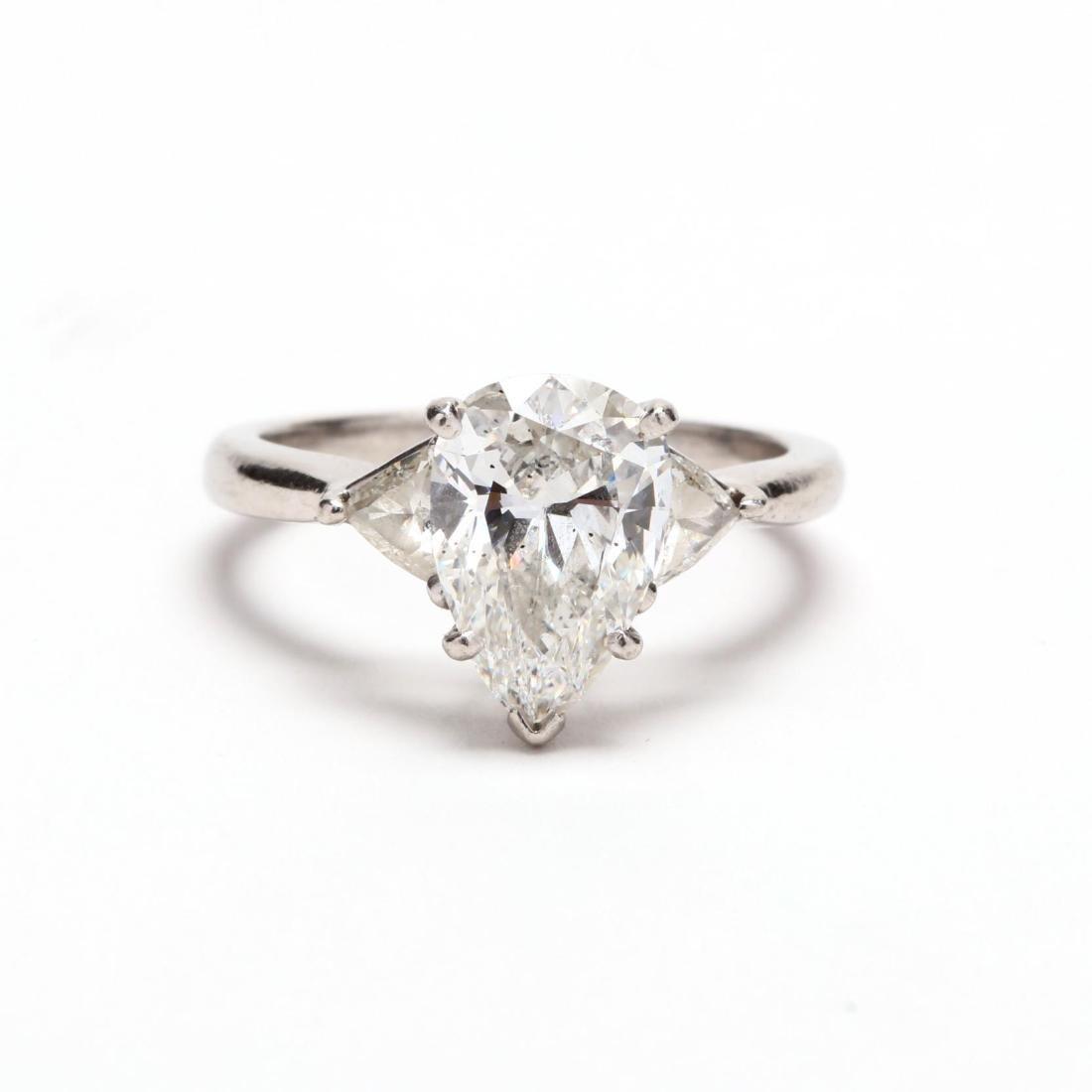 Unmounted Diamond with Platinum and Diamond Mount