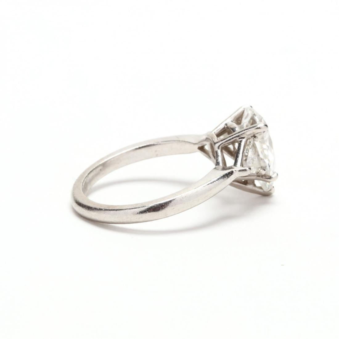 Unmounted Diamond with Platinum and Diamond Mount - 2