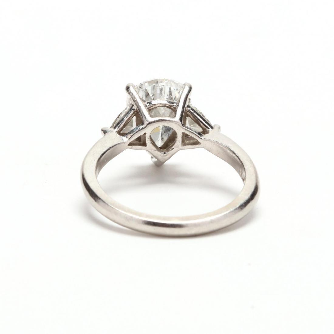 Unmounted Diamond with Platinum and Diamond Mount - 3