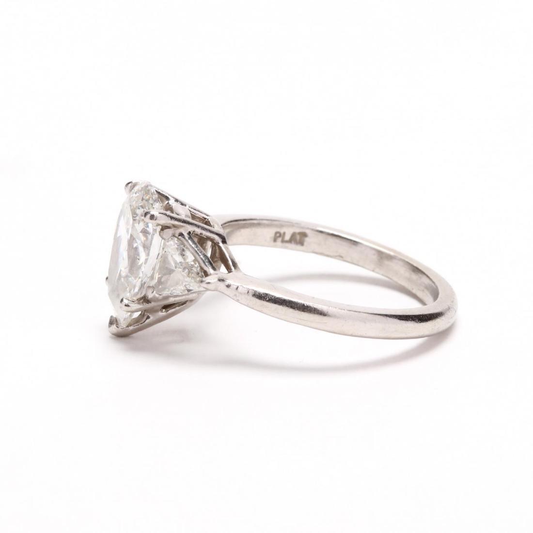 Unmounted Diamond with Platinum and Diamond Mount - 4