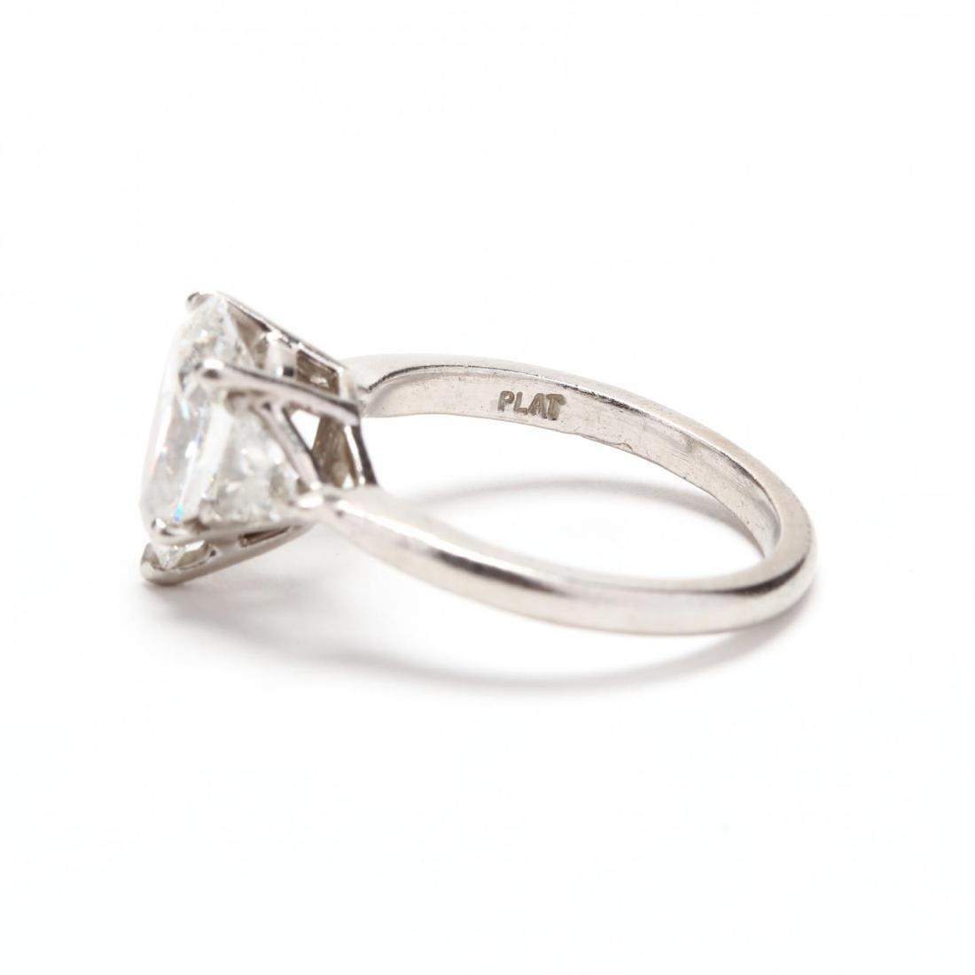 Unmounted Diamond with Platinum and Diamond Mount - 5