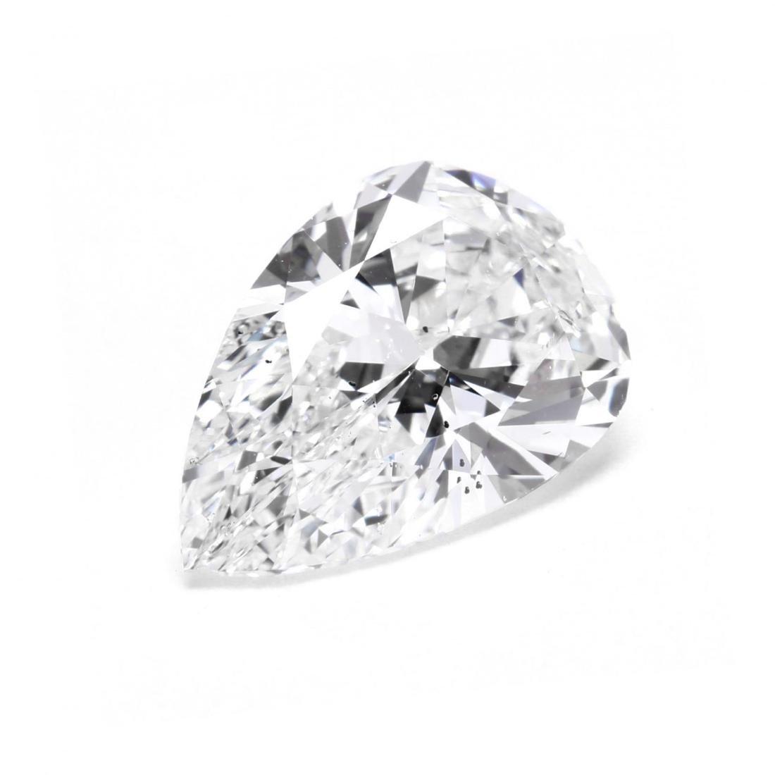Unmounted Diamond with Platinum and Diamond Mount - 6