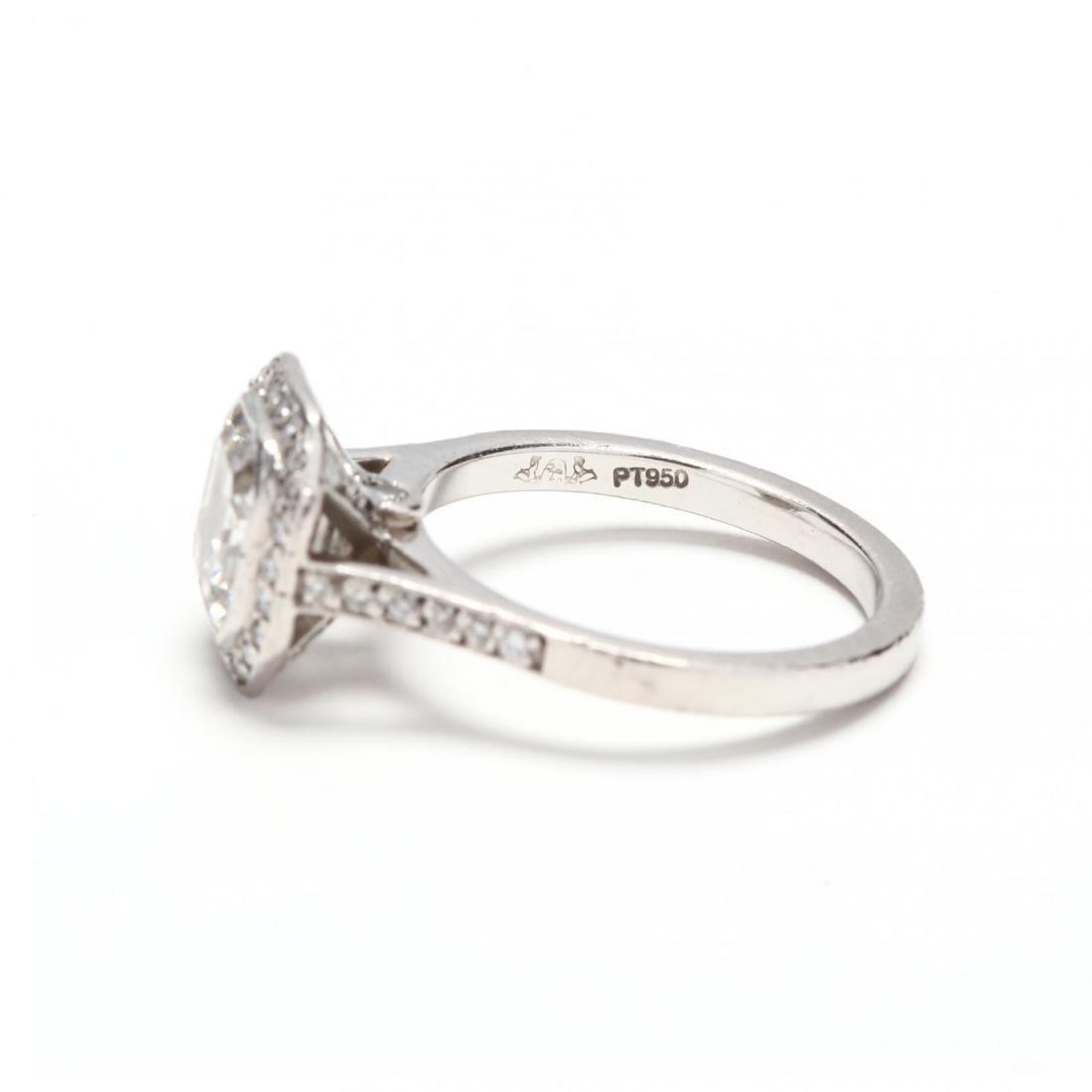 Platinum and Diamond Ring - 5