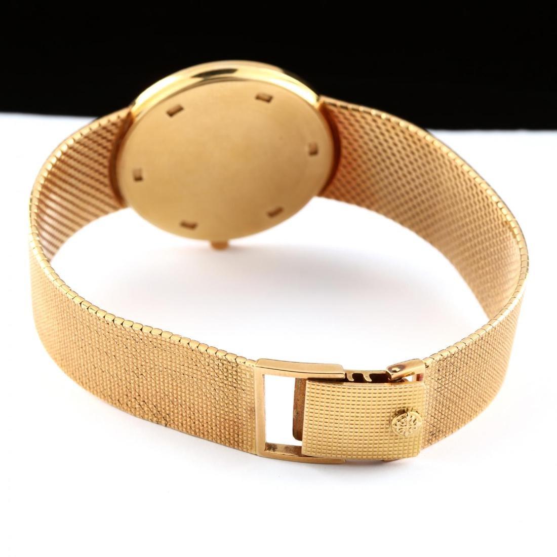 "Gent's 18KT Gold ""Calatrava"" Watch, Patek Philippe - 4"