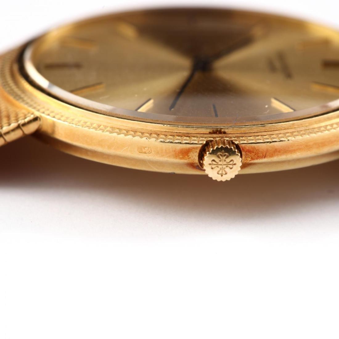 "Gent's 18KT Gold ""Calatrava"" Watch, Patek Philippe - 6"