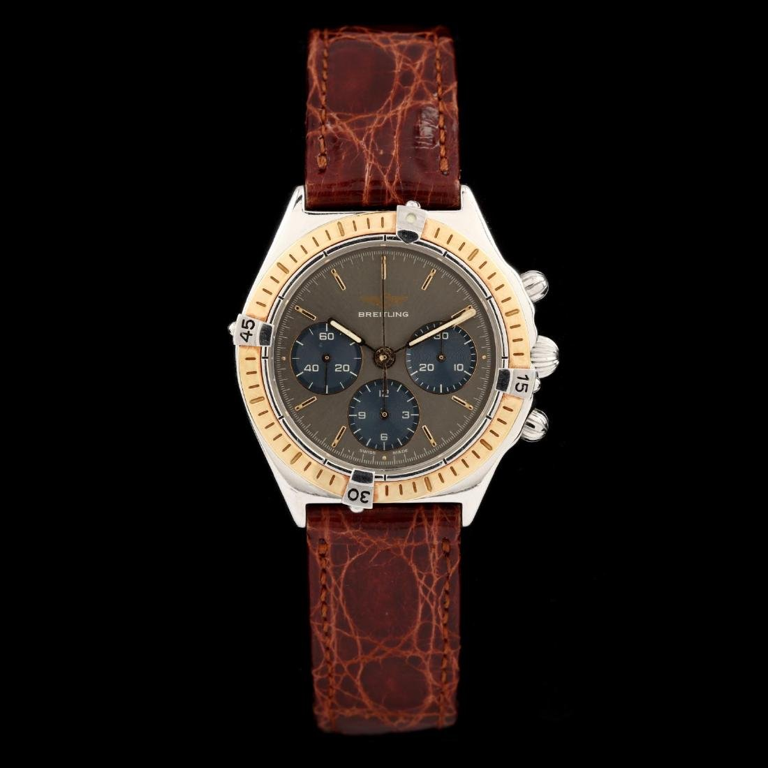 "Gent's 18KT Gold and Stainless Steel ""Callisto"""