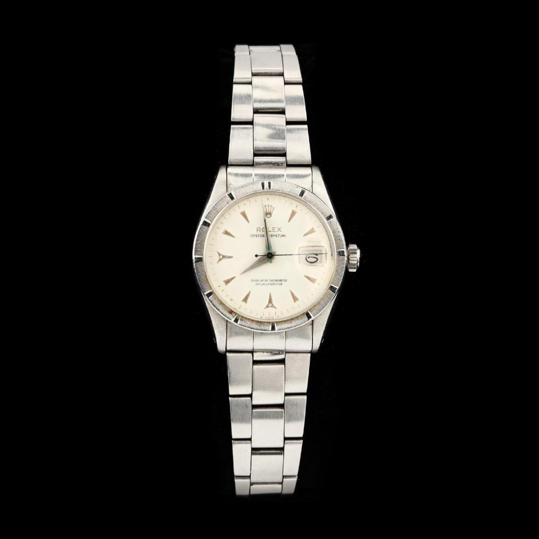 """Vintage Stainless Steel """"Oyster Perpetual Date"""" Watch,"""