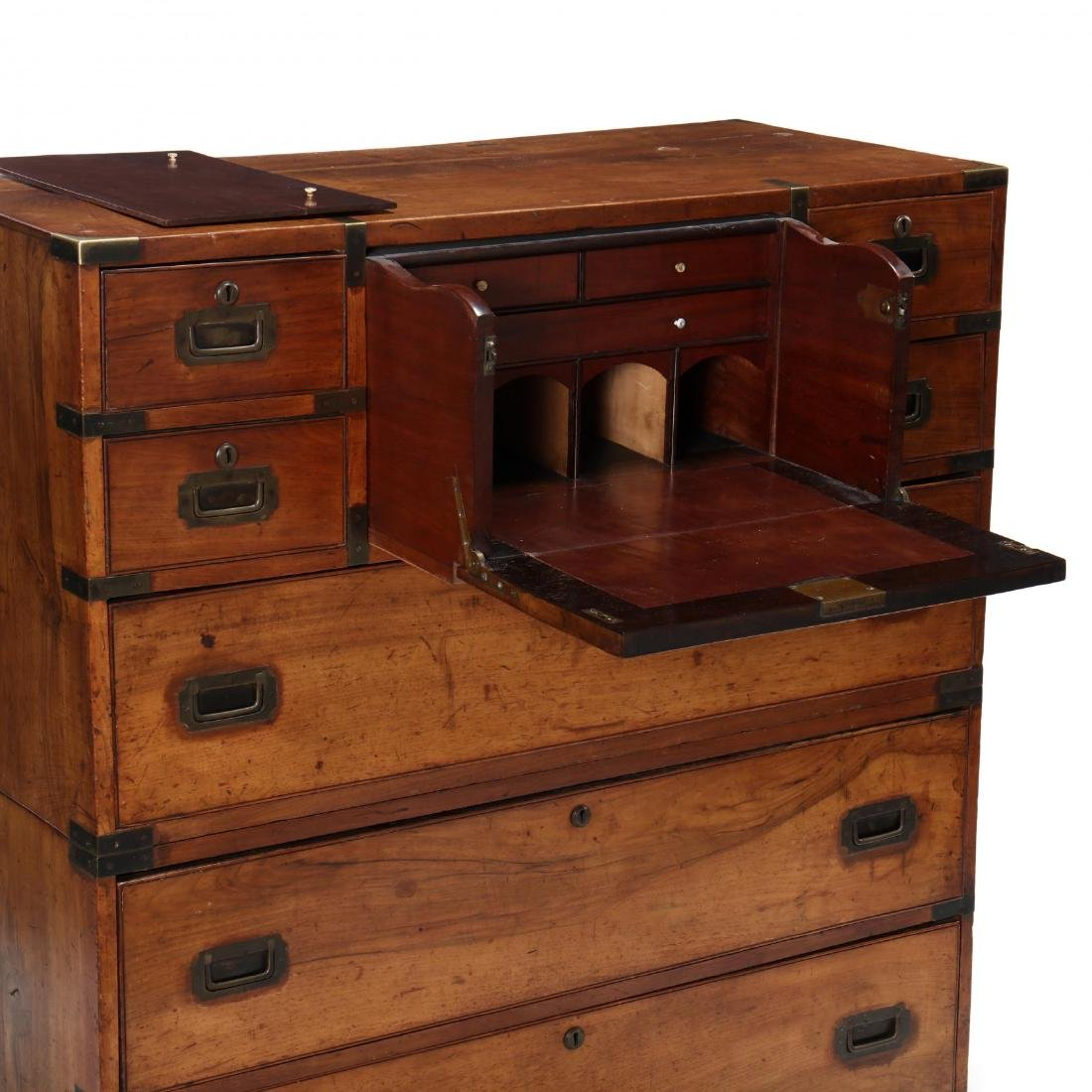 George III Mahogany Campaign Chest On Chest with - 4